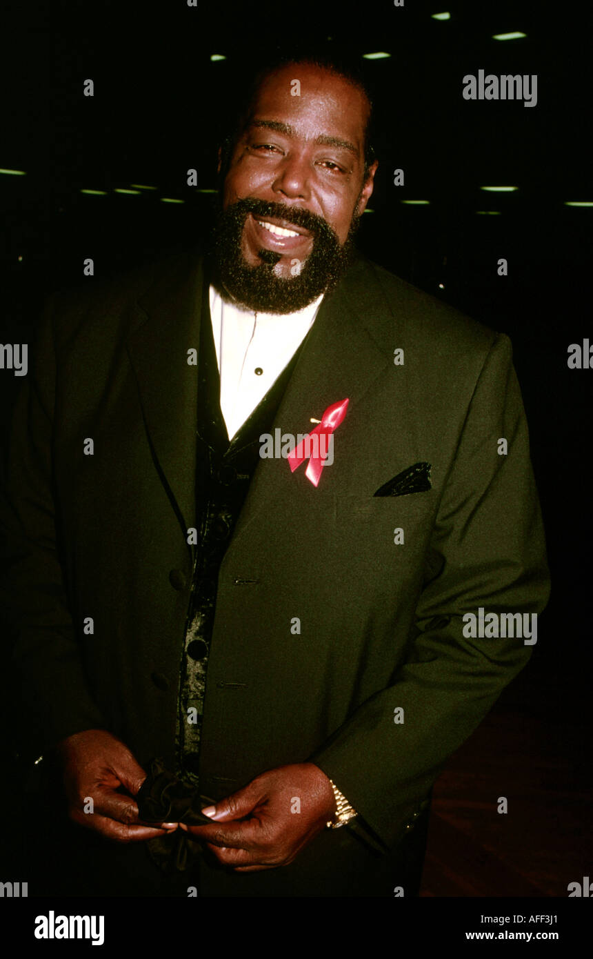 BARRY WHITE US singer - Stock Image