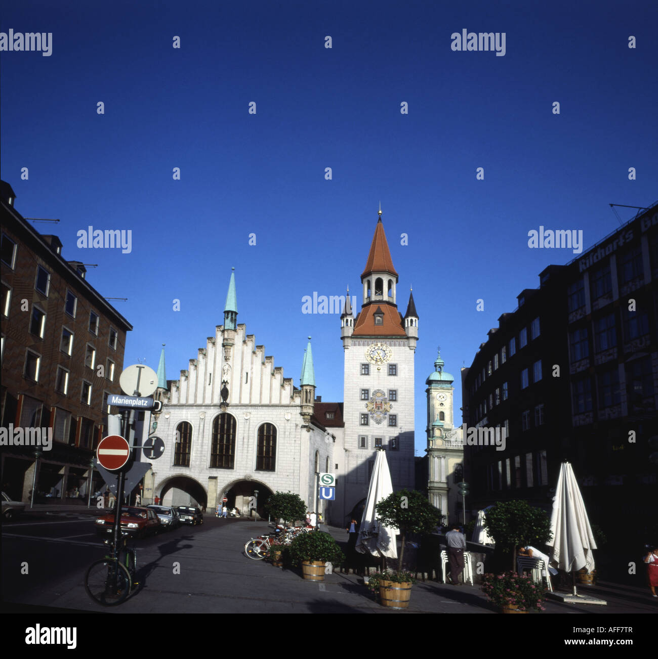 Old Town Hall (1474 ), Munich, Germany - Stock Image
