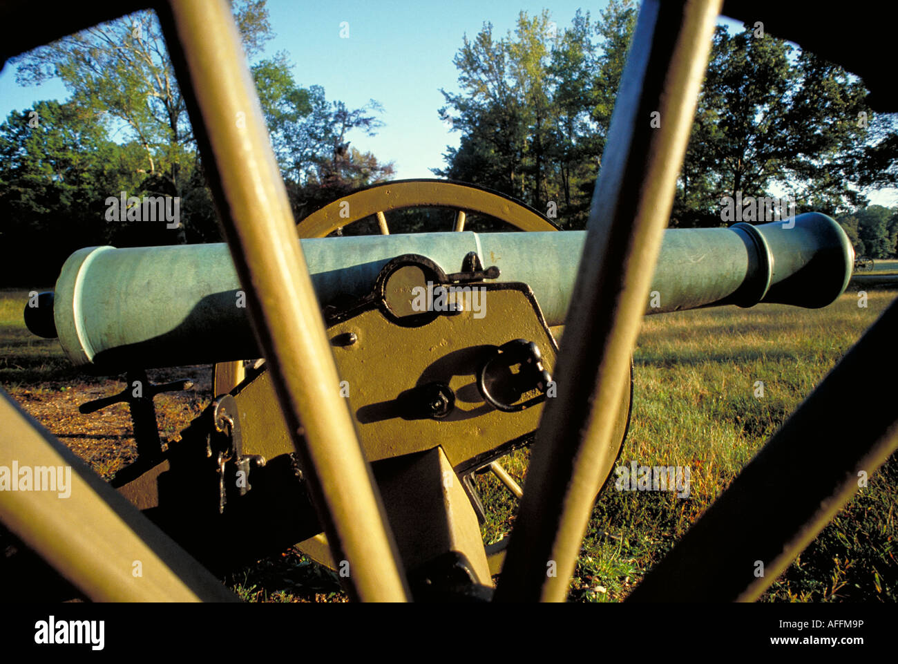 Elk217 2146 Tennessee Shiloh NMP Ruggle s Battery canons - Stock Image