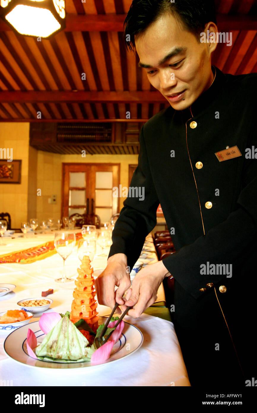 Vietnamese Maitre de - Stock Image