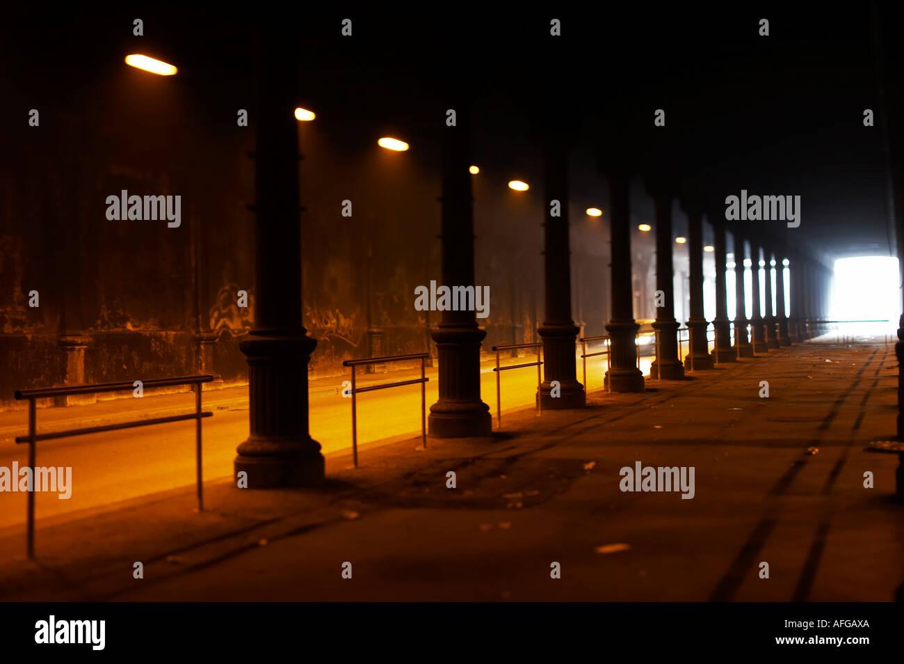 Licht am Ende des Tunnels Stock Photo