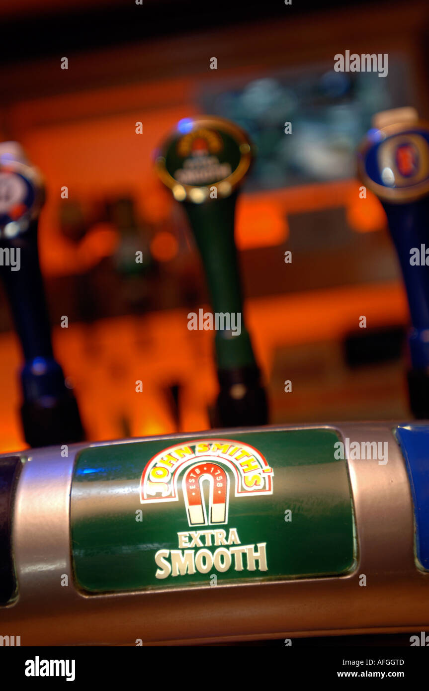 John Smith's beer tap - Stock Image