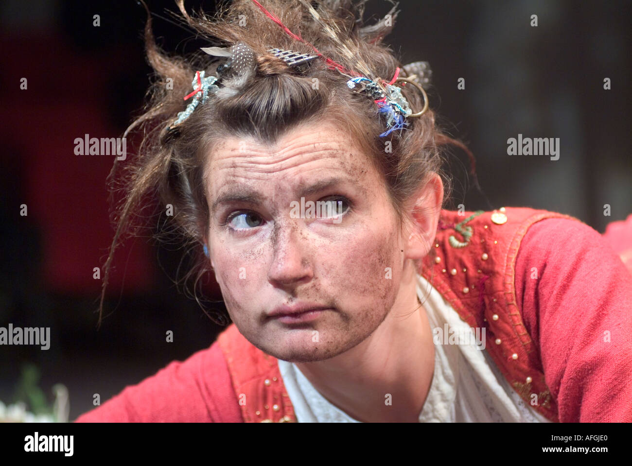 Katherine Tozer playing Pearl in The Scarlet Letter by Phyllis Nagy 1994 adapted from the novel by Nathaniel Hawthorne 1850. - Stock Image