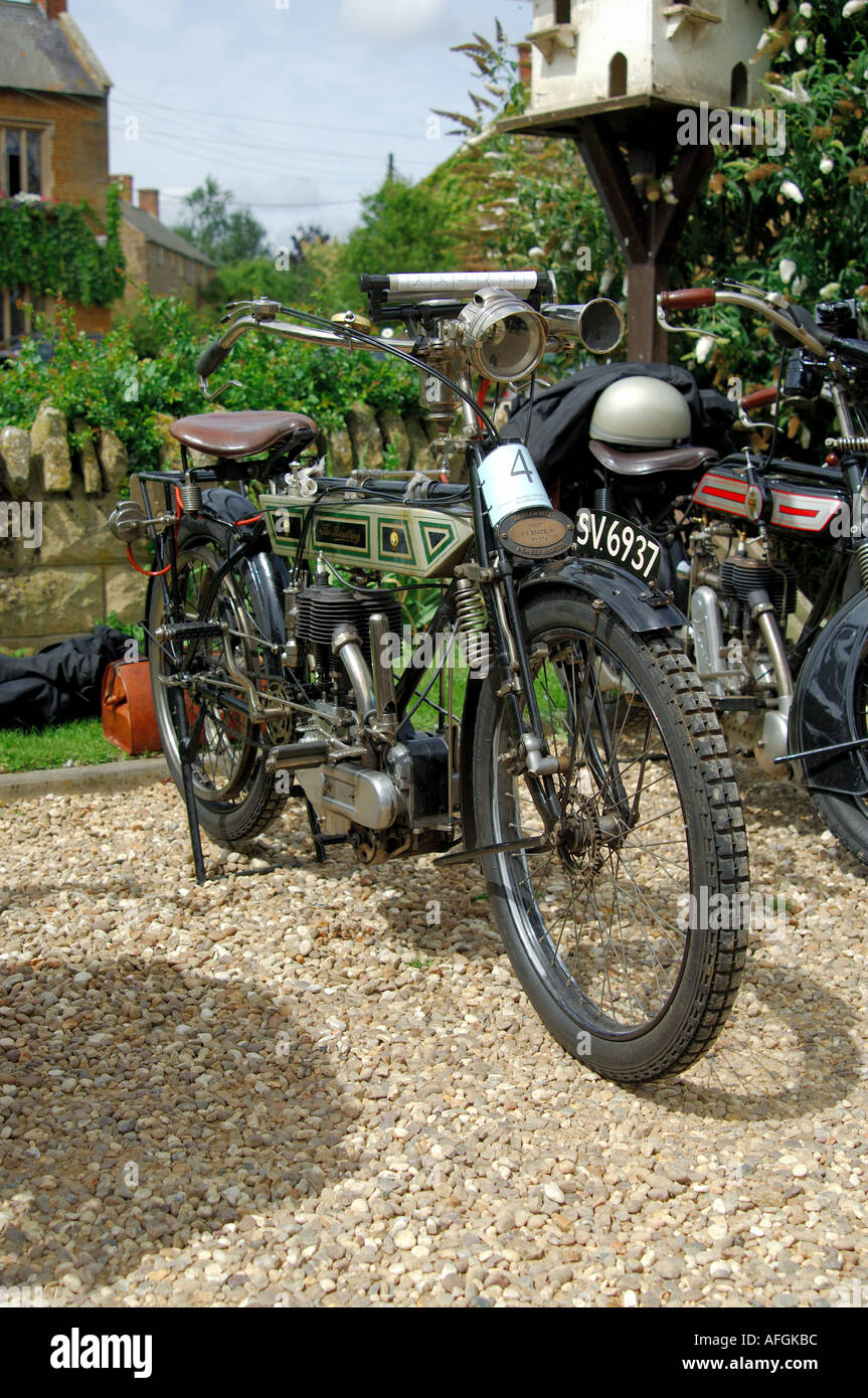 The Bradbury vintage motorcycle - Stock Image