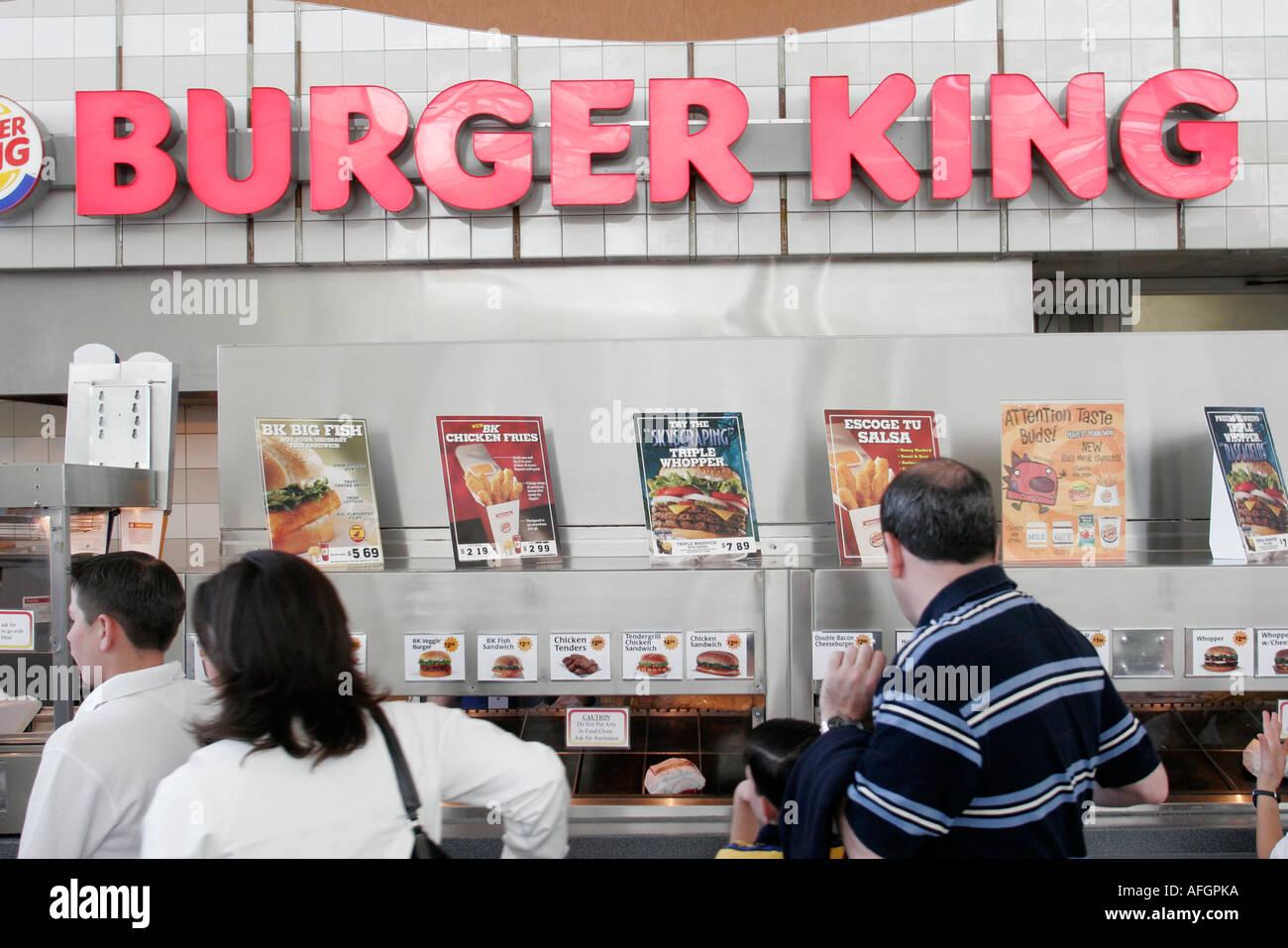 Orlando Florida Airport Burger King Fast Food Restaurant