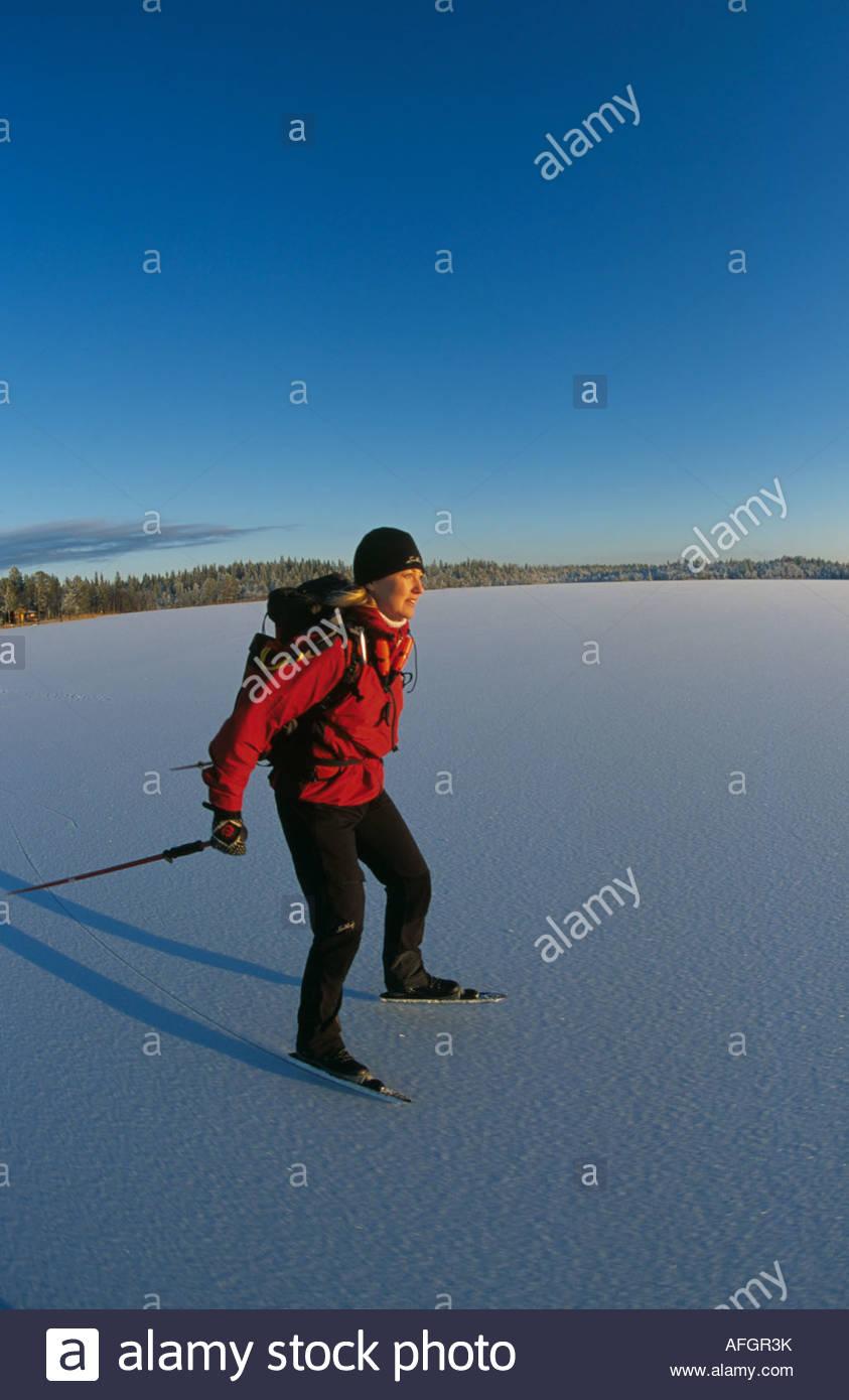Långfärdsskridskoåkare - Stock Image
