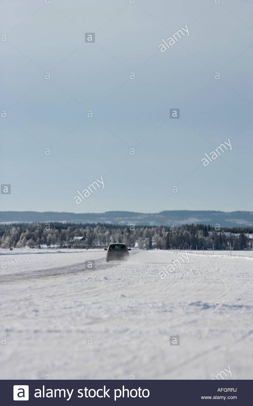 Halkbana på sjö - Stock Image