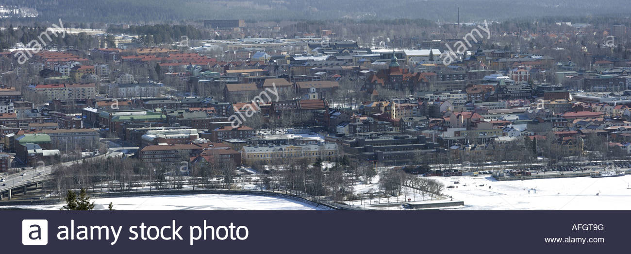 Utsikt över stad - Stock Image
