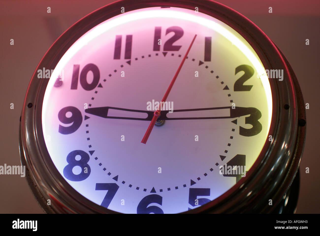 Miami Beach Florida Johnny Rocket's restaurant diner clock