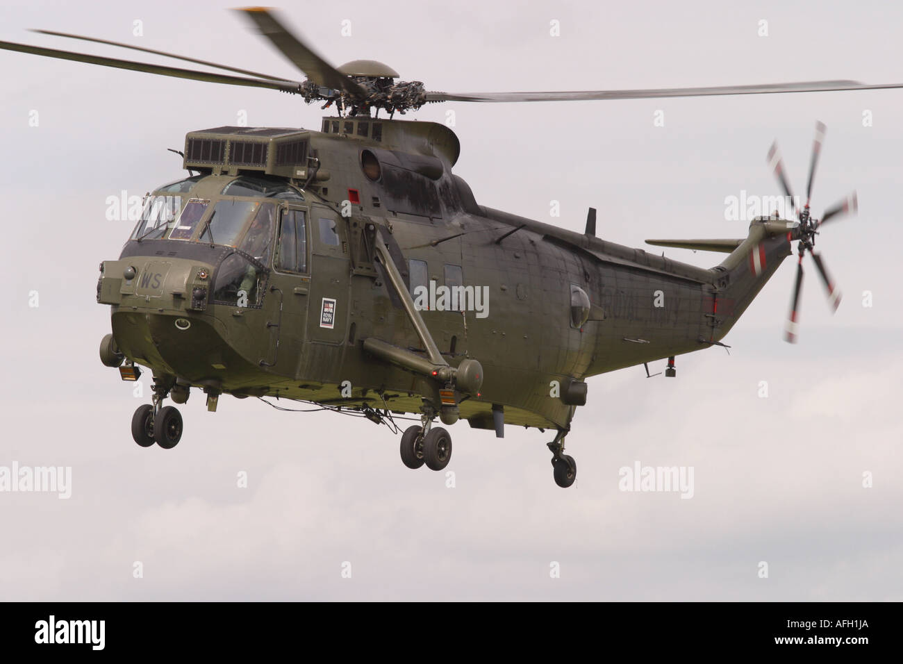 Royal Navy Sea King HC4 Commando troop carrying assualt helicopter Stock Photo