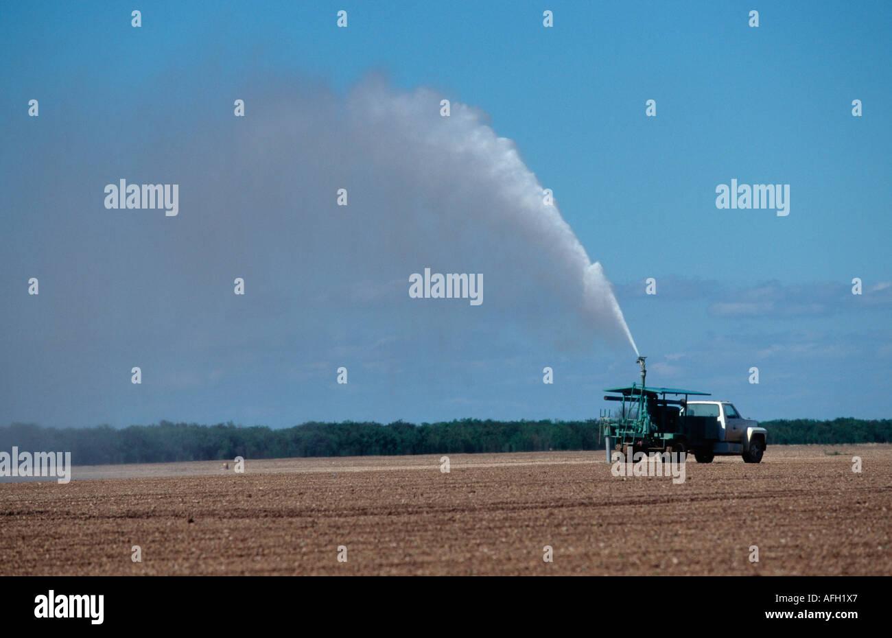 Pumper Truck plying fields, Everglades, Florida, USA - Stock Image