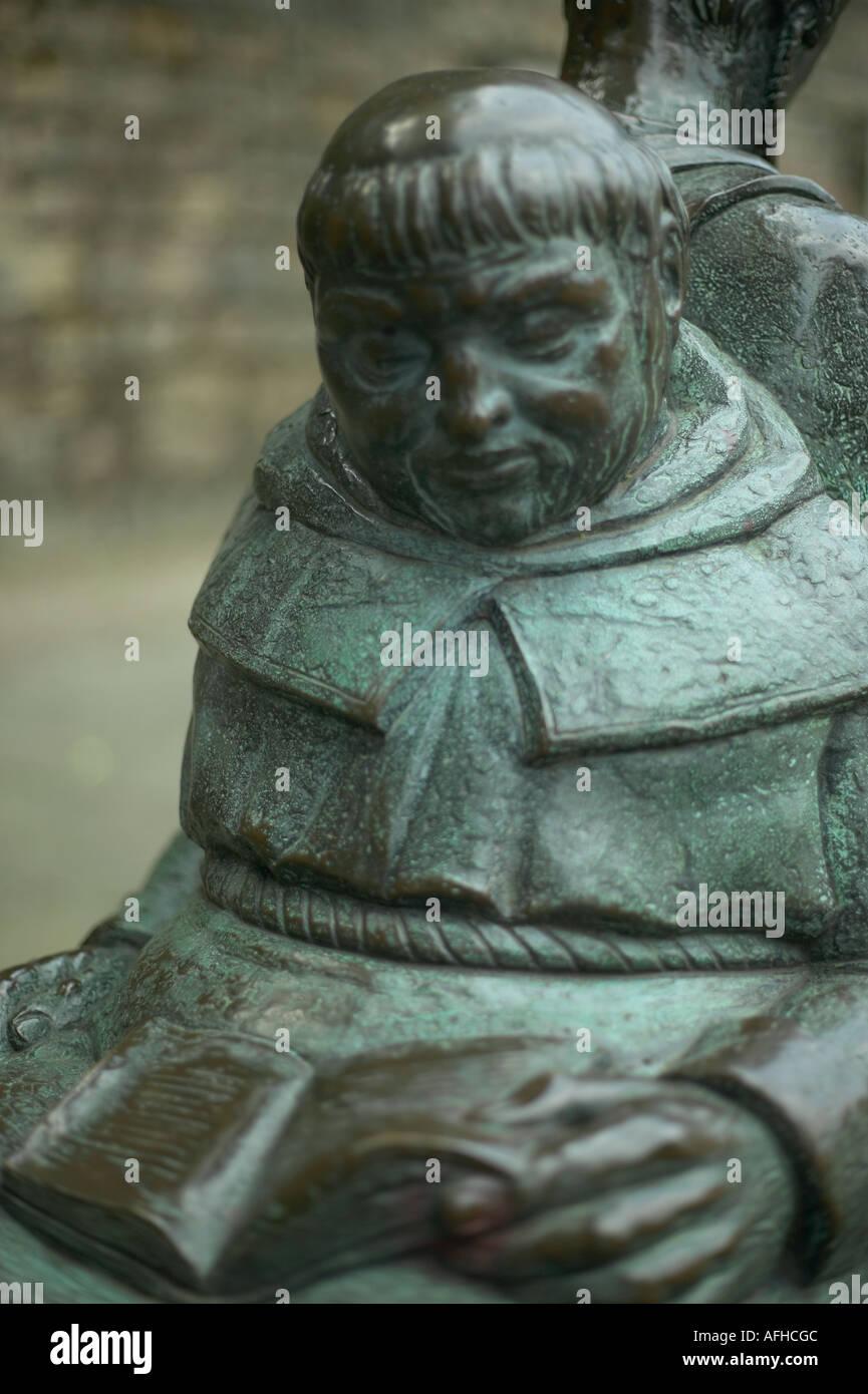 brass face nottingham castle - Stock Image