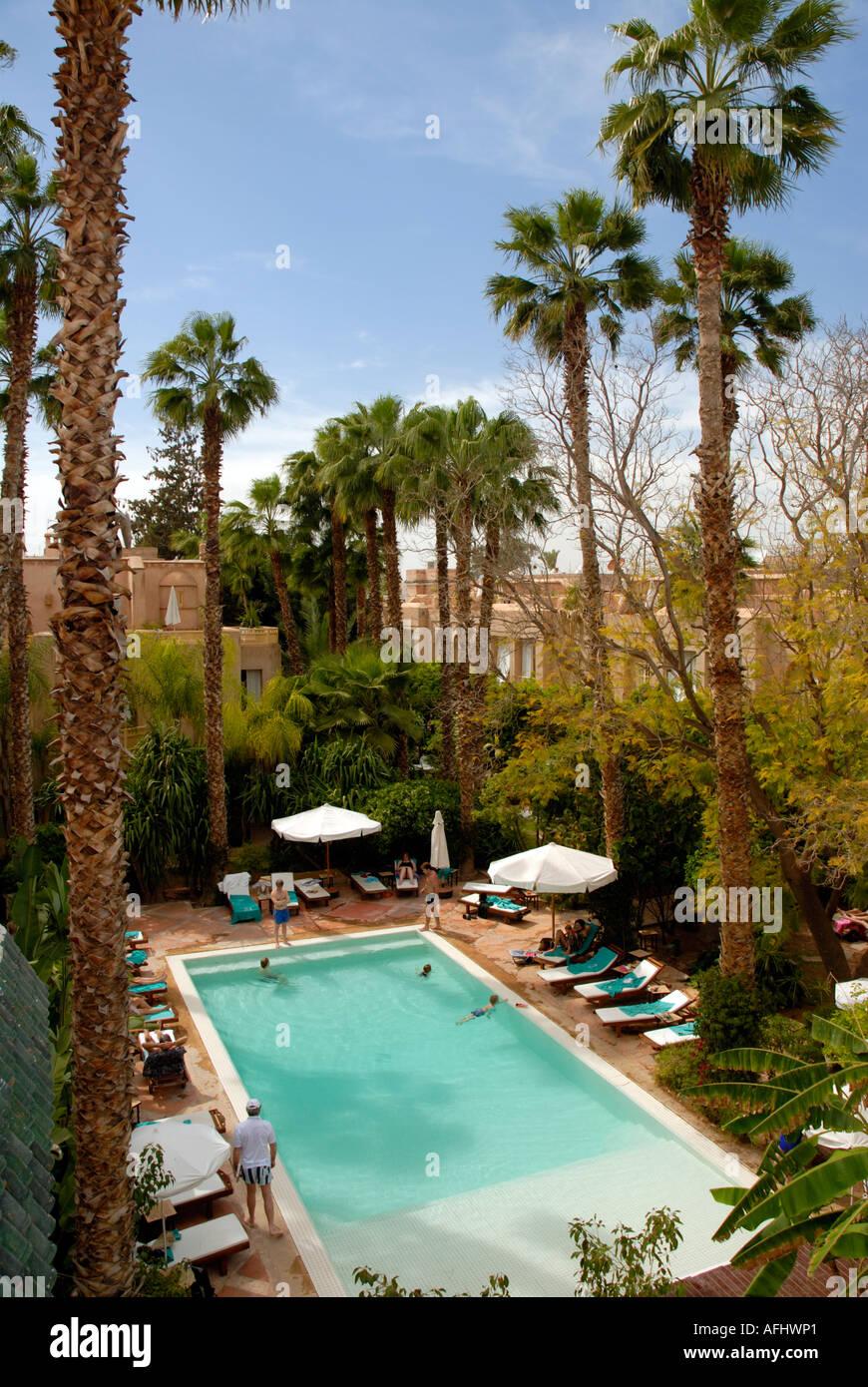 Swimming Pool Les Jardins De La Medina Quartier De La Kasbah Stock