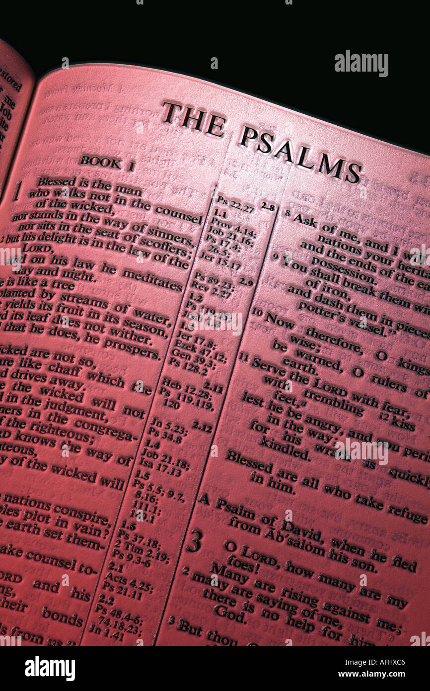 PSALMS chapter of the Holy bible Stock Photo
