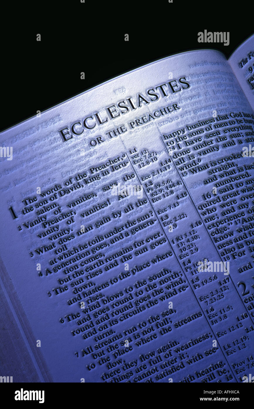 ECCLESIASTES chapter of the Holy bible Stock Photo: 4556489