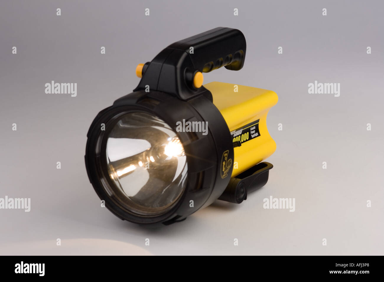 rechargeable torch / flashlight - Stock Image