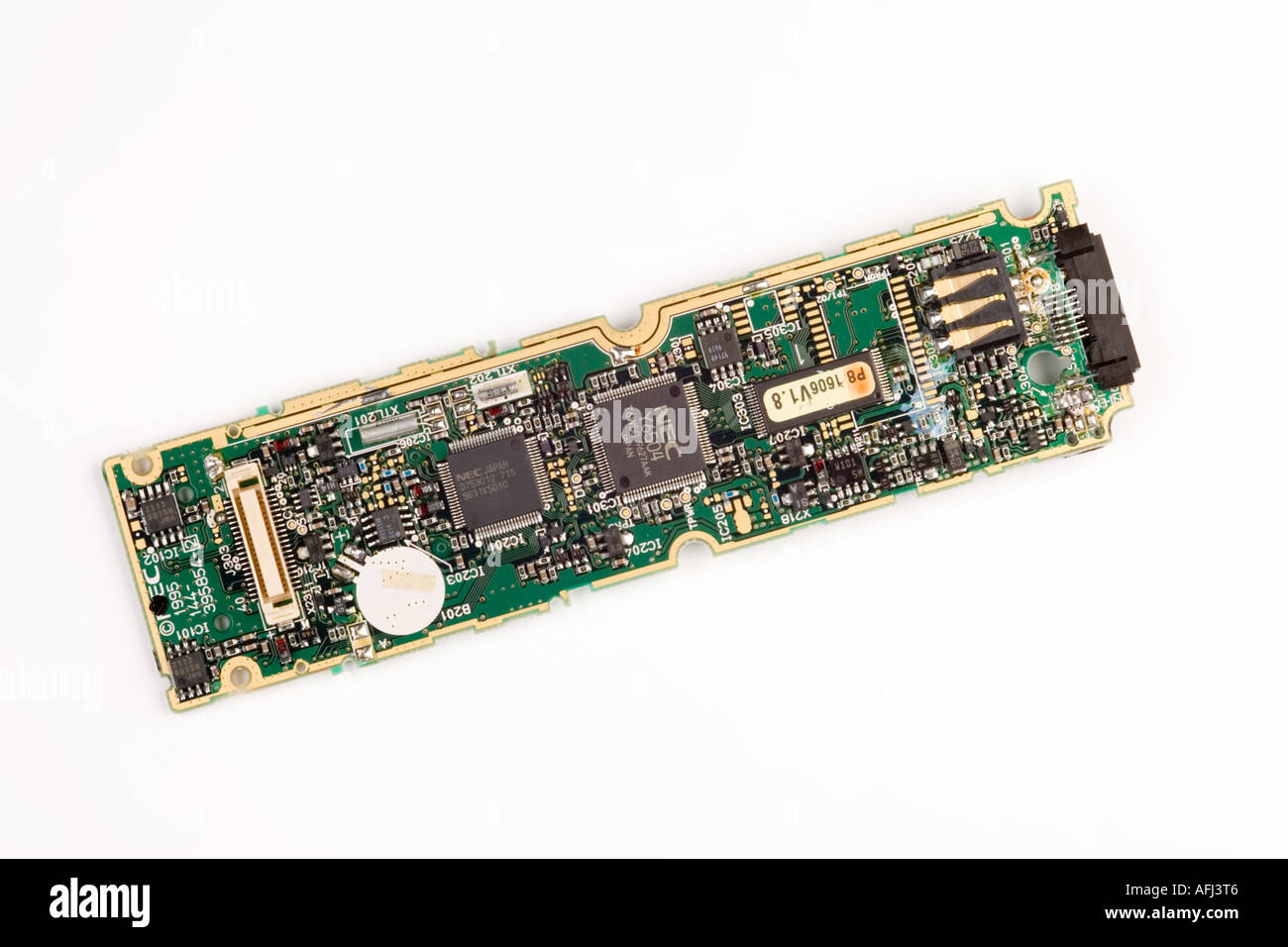 Surface Mount Technology Smt Stock Photos Circuit Board From A Nokia 3310 Mobile Phone Photo Picture And Image