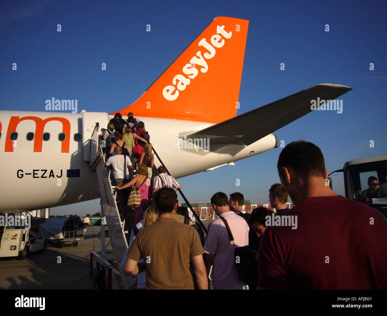 Flying with Easyjet - Stock Image