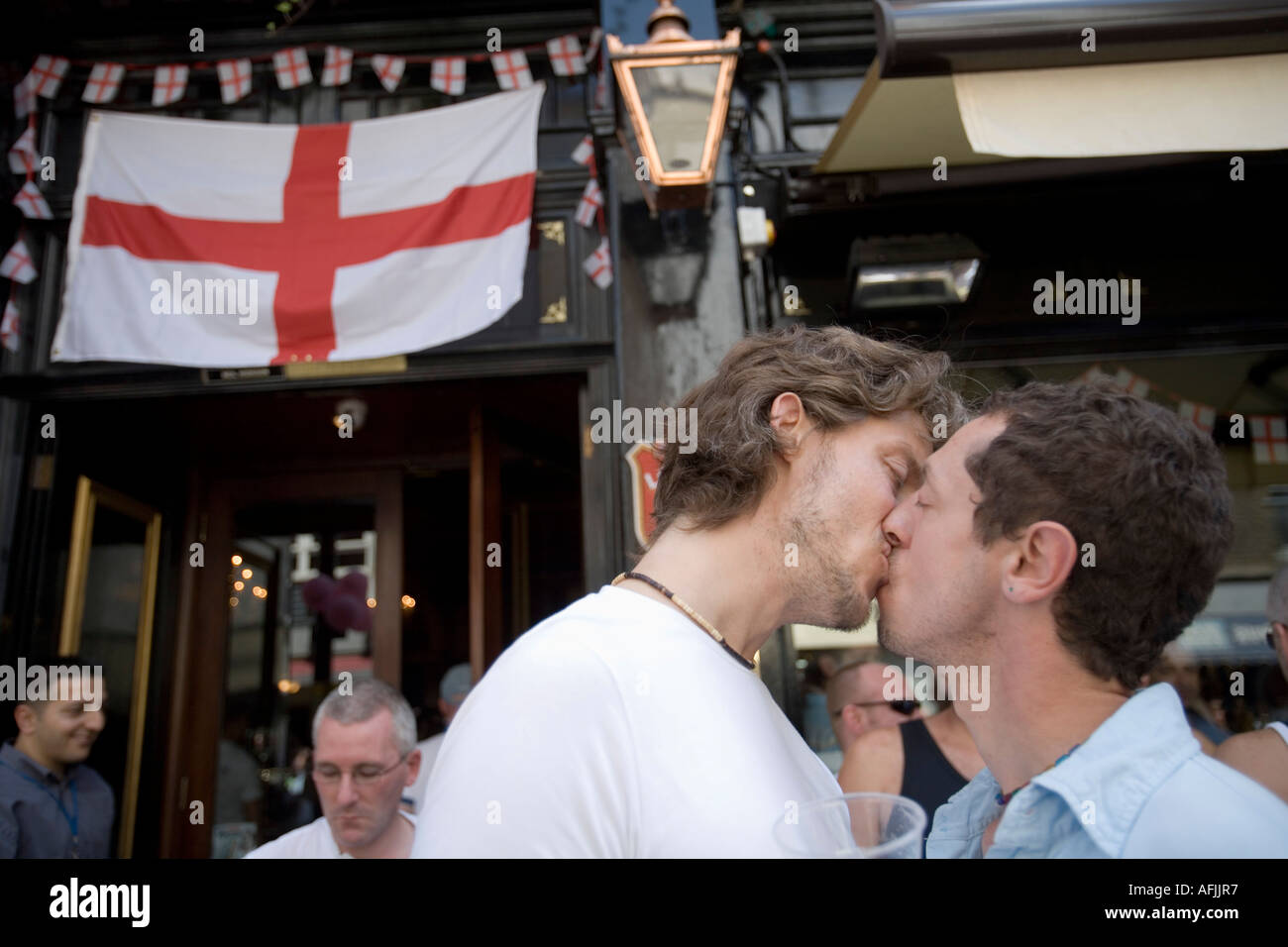Blonde gay men kiss images