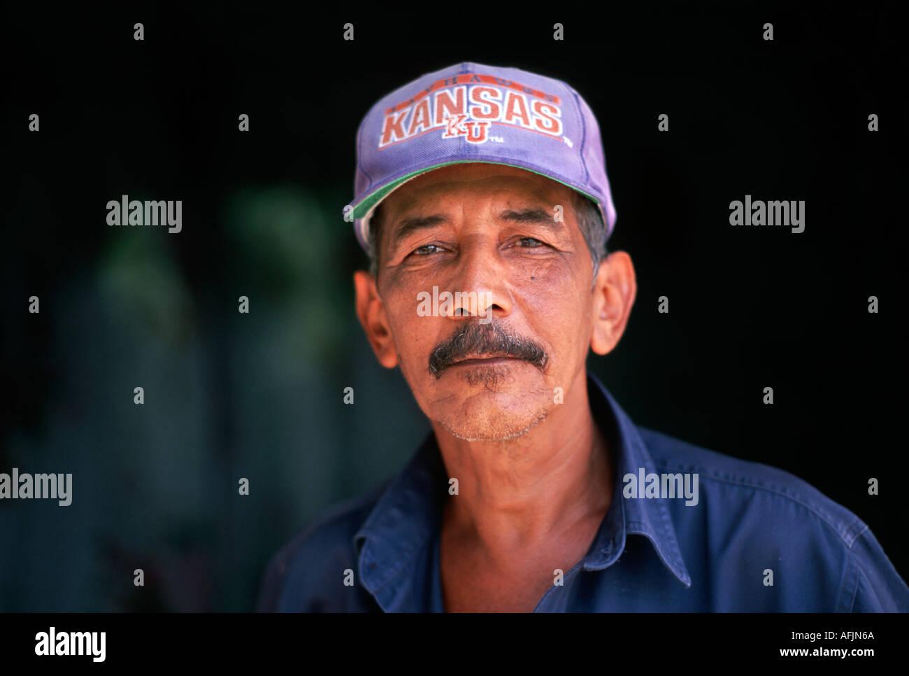 Portrait of a Cuban man Holguin Cuba - Stock Image