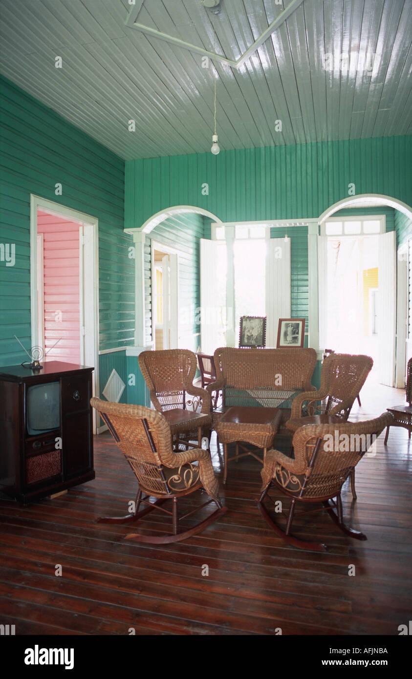 Interior of Fidel Castro s family home in Biran Oriente Province Cuba Stock Photo