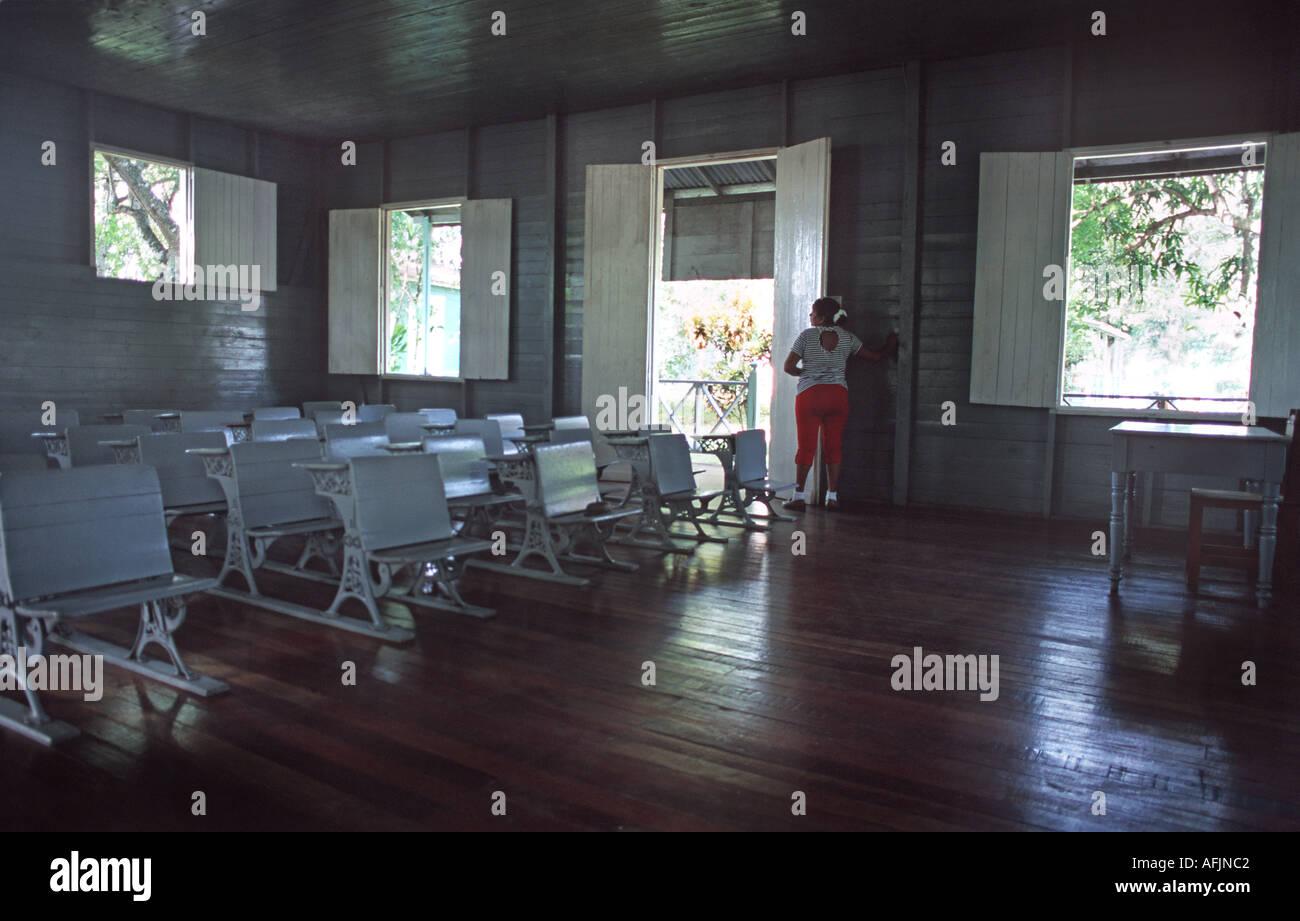 Interior of Fidel Castro s school house in Biran Oriente Province Cuba Stock Photo