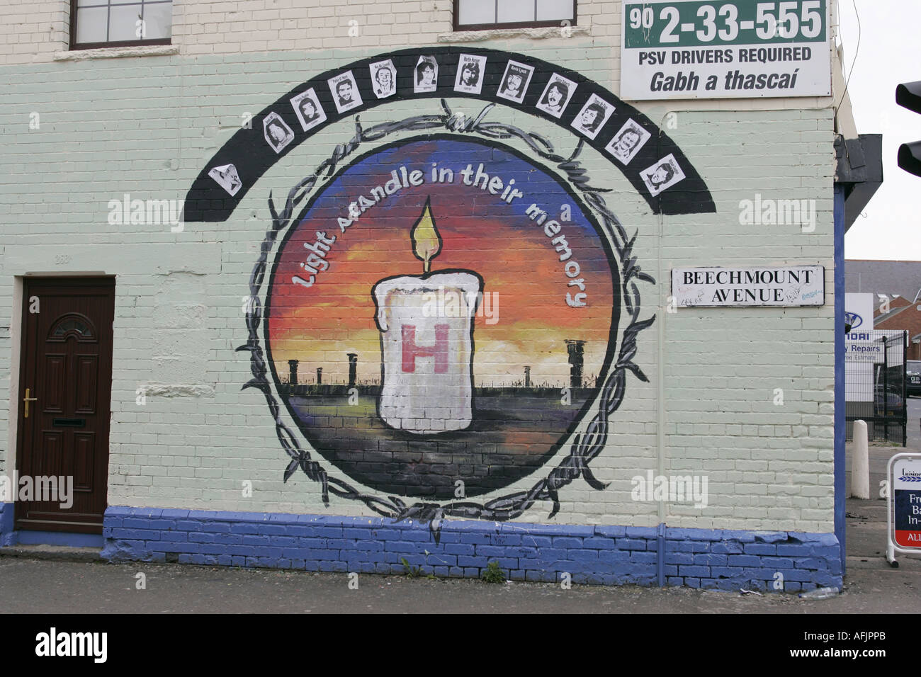 Hunger Strikers Commemoration Republican Wall Mural Beechmount Rpg Stock Photo Alamy