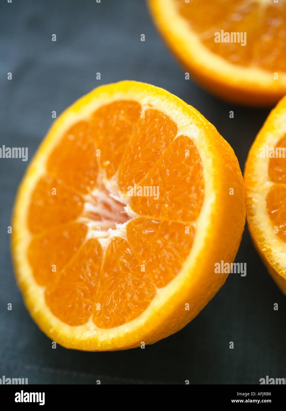 Orange halves - Stock Image