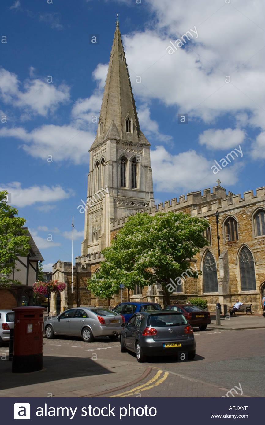 Market Harborough Church Tower - Stock Image