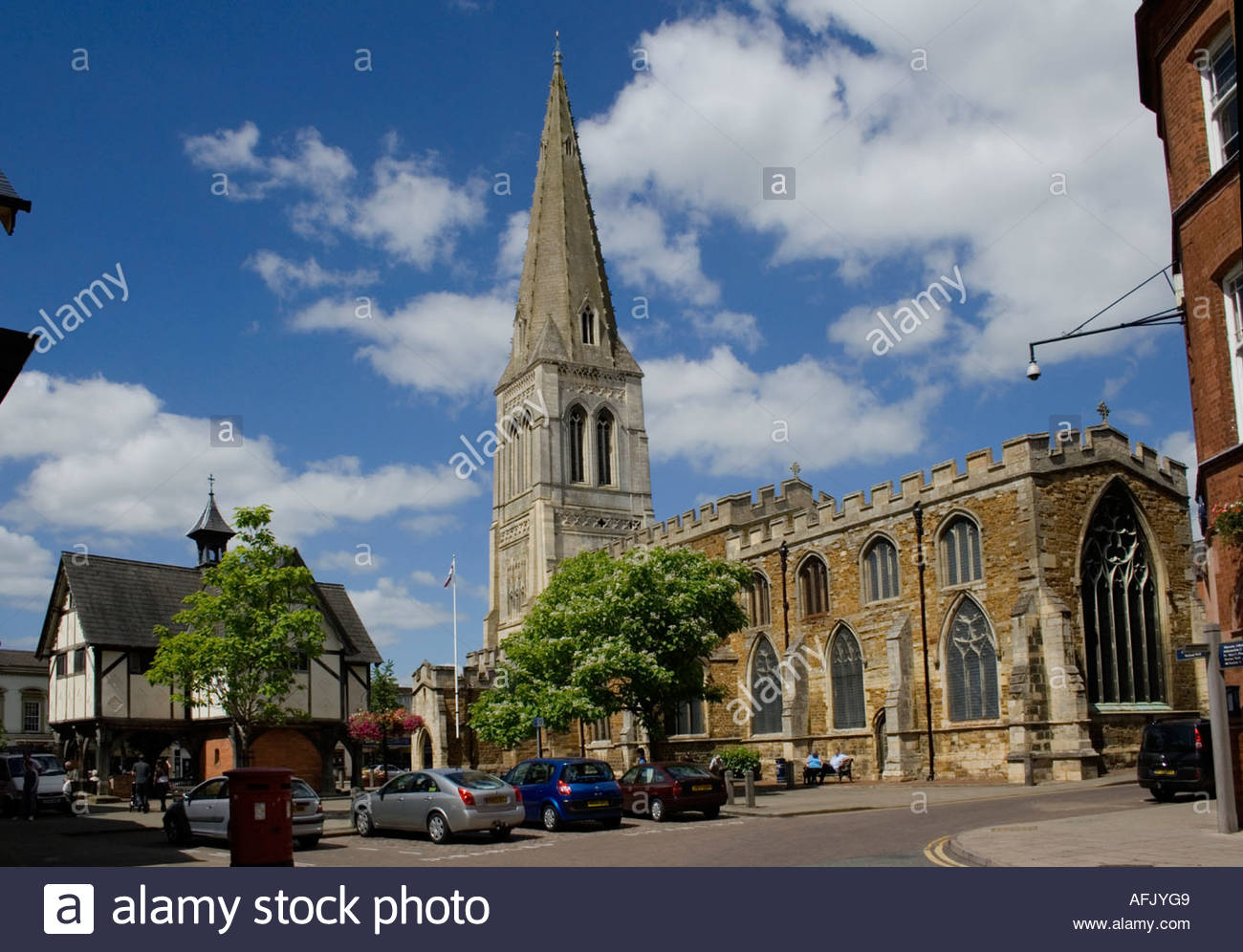 Market Harborough Church - Stock Image