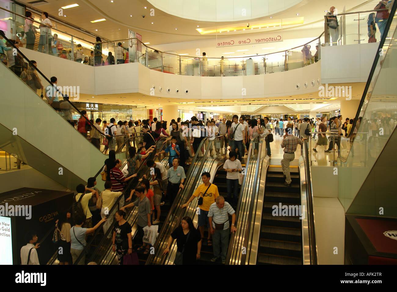 New Town Plaza shopping arcade in Shatin Hong Kong China - Stock Image