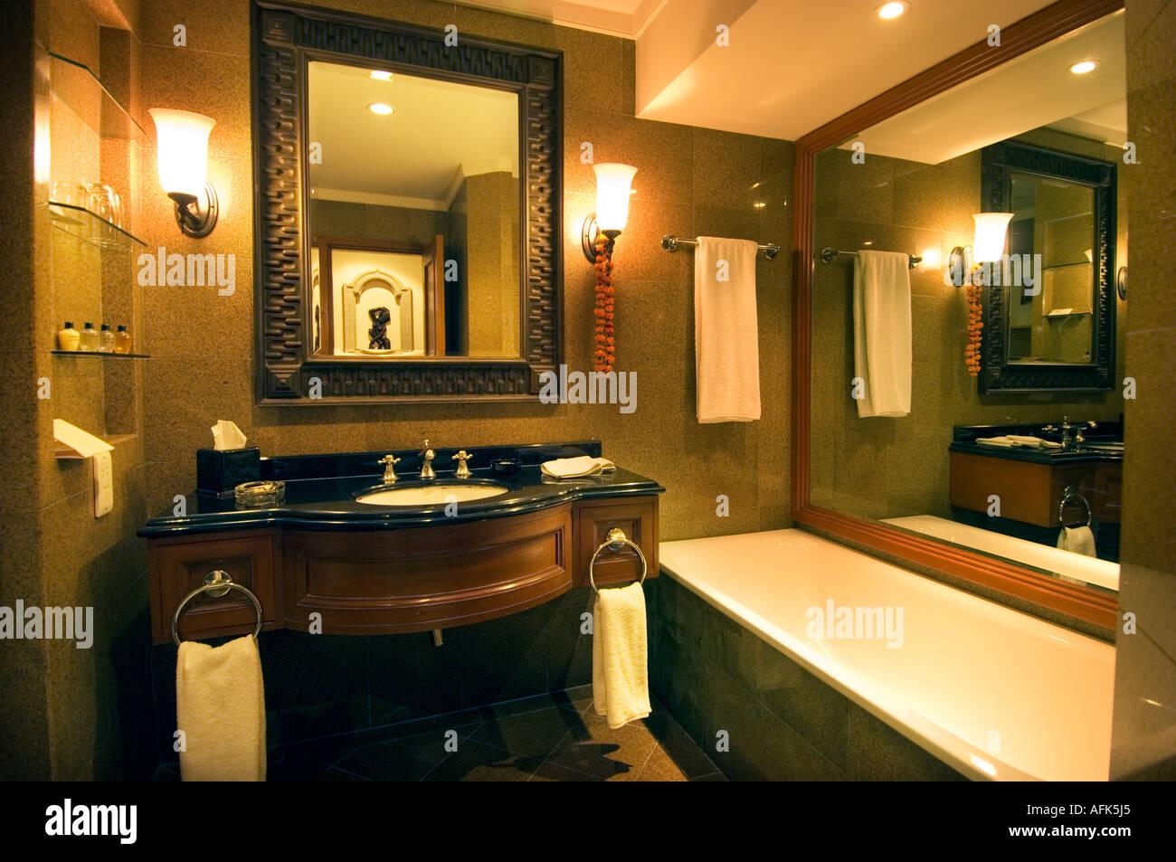 The HYATT REGENCY HOTEL in Katmandu Kathmandu Nepal bath bathroom ...