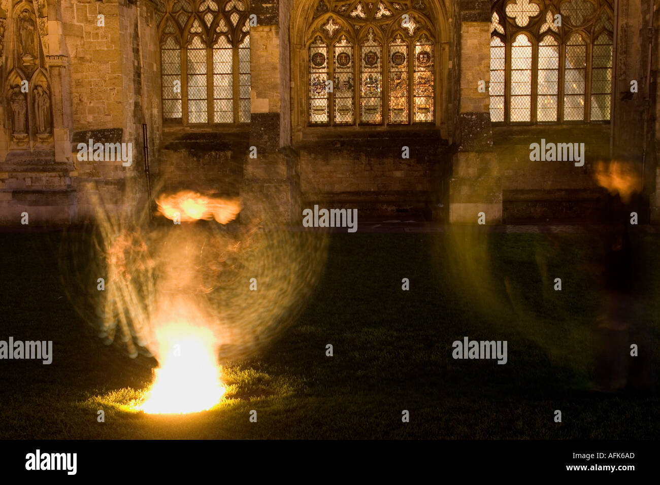 Exeter Cathedral ghost - Stock Image