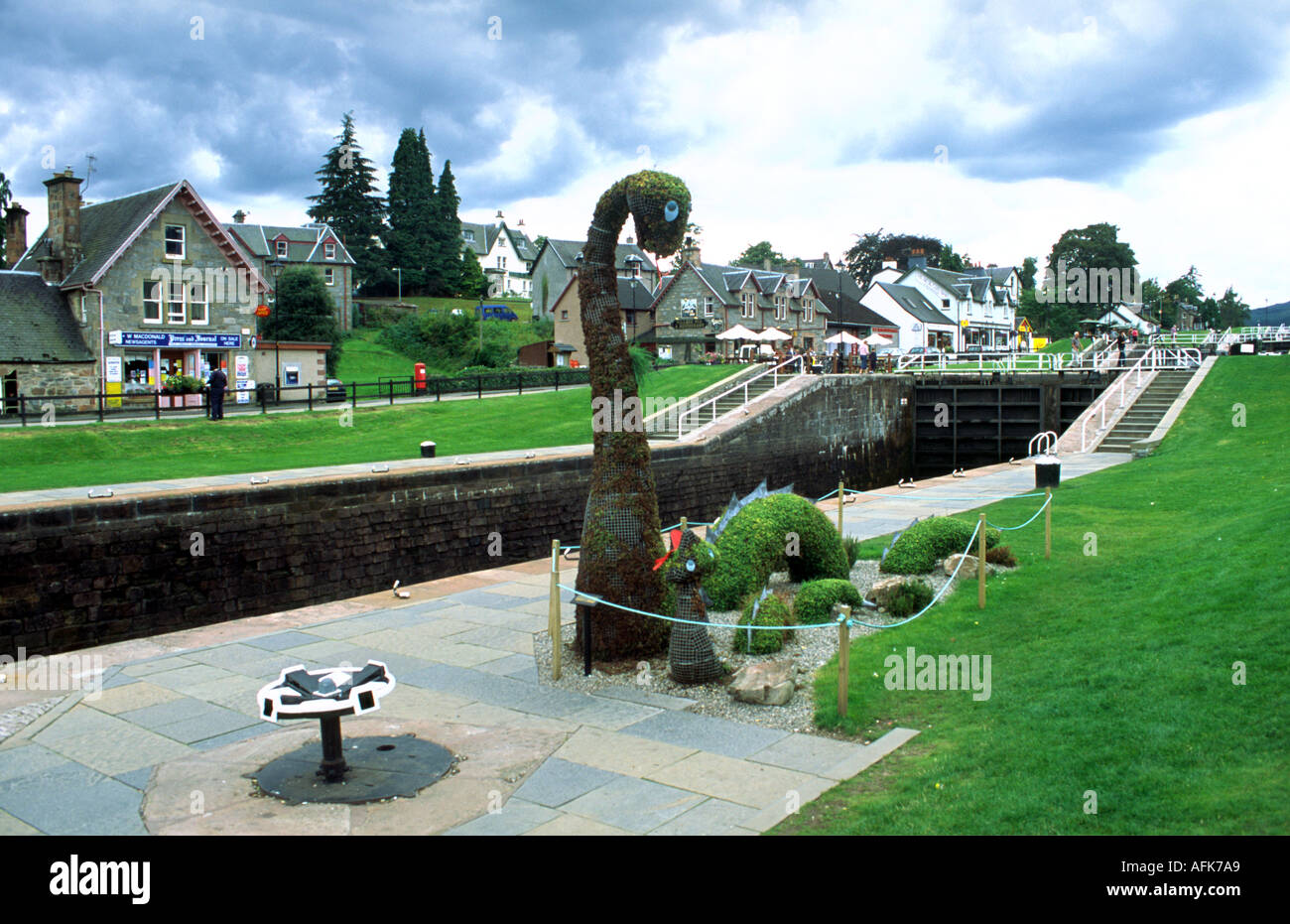 The Loch Ness monster Nessie in Fort Augustus Scotland Stock Photo ...