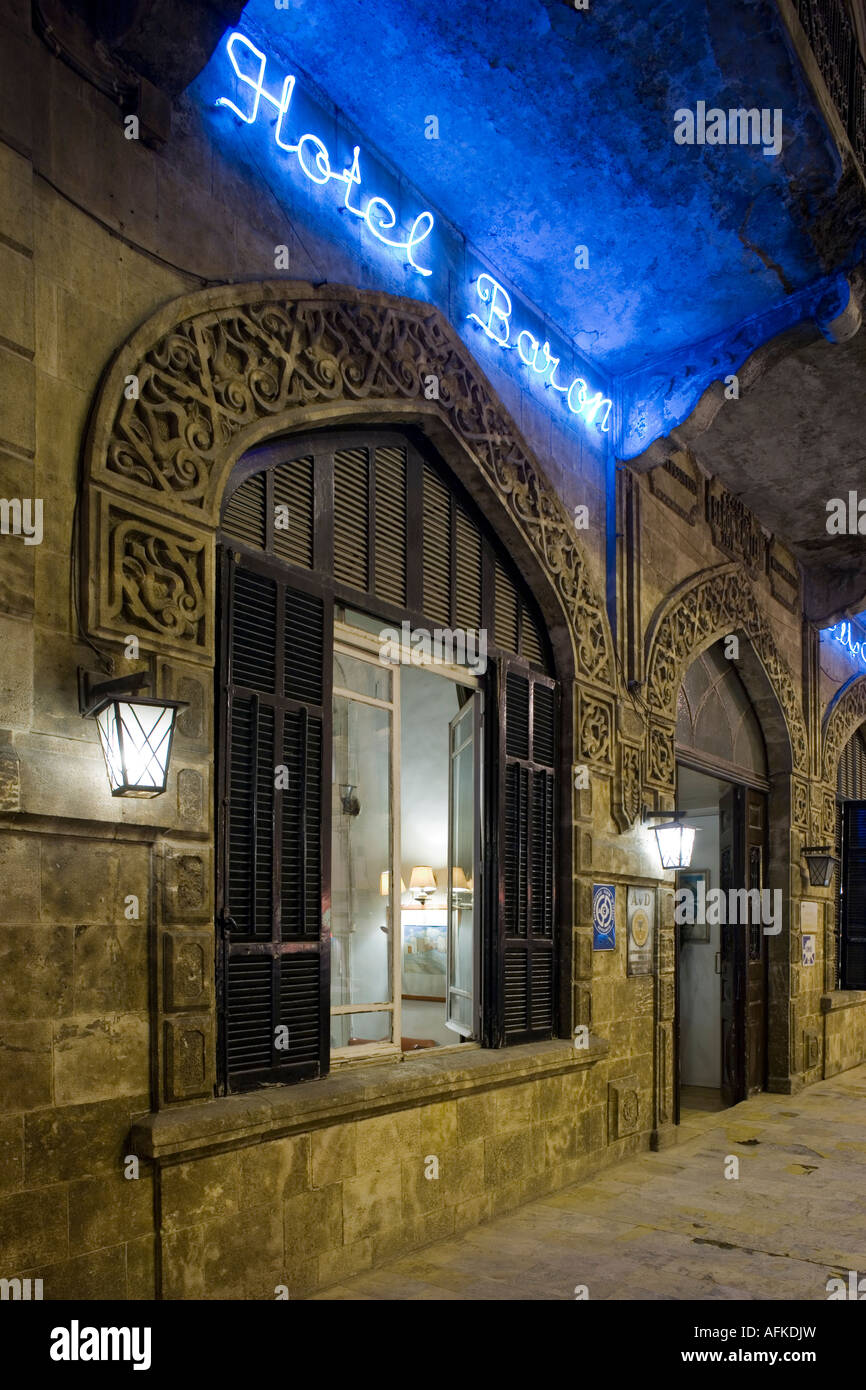The Baron Hotel, Aleppo, Syria, favourite haunt of TE Lawrence - Stock Image