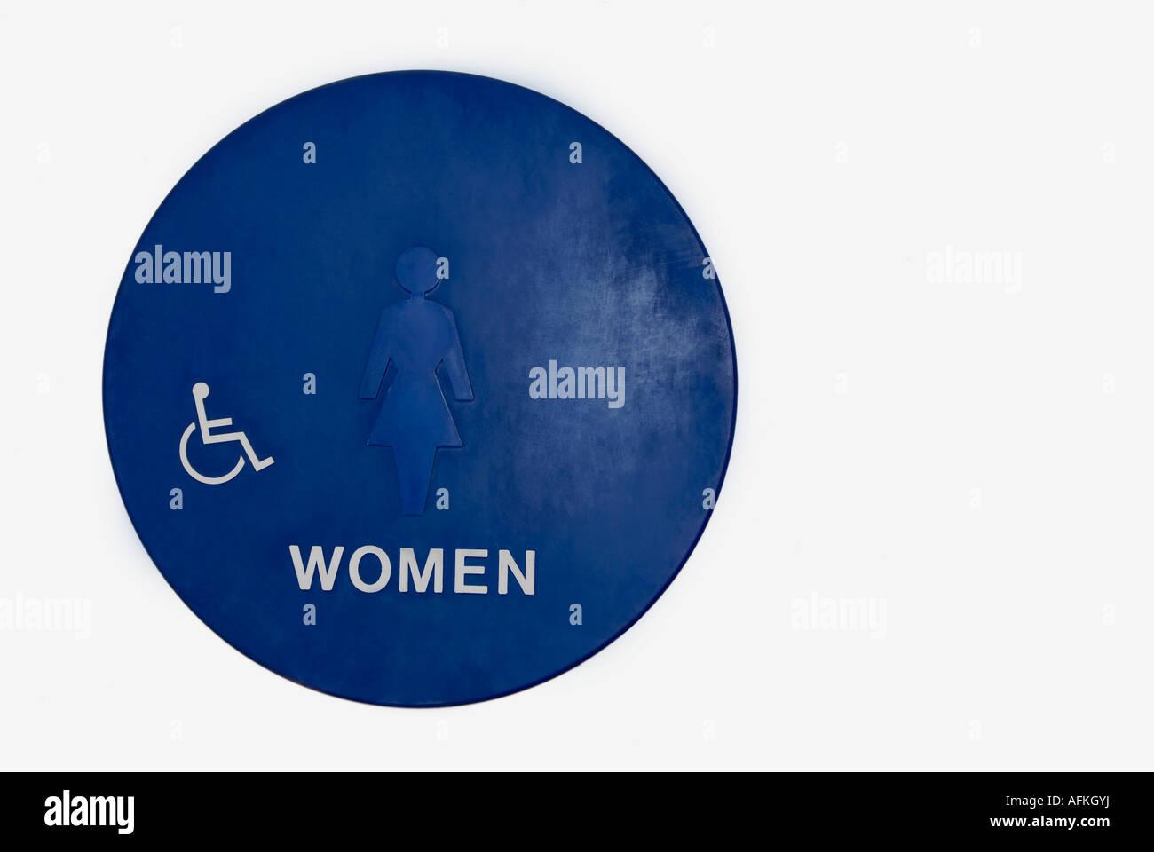 womens bathroom sign stock image - Womens Bathroom Sign