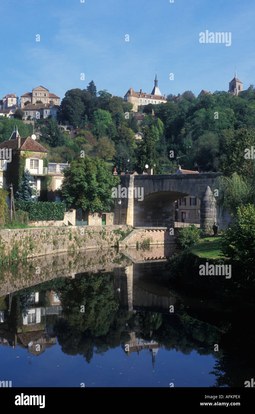 View of Avallon Burgundy France - Stock Image