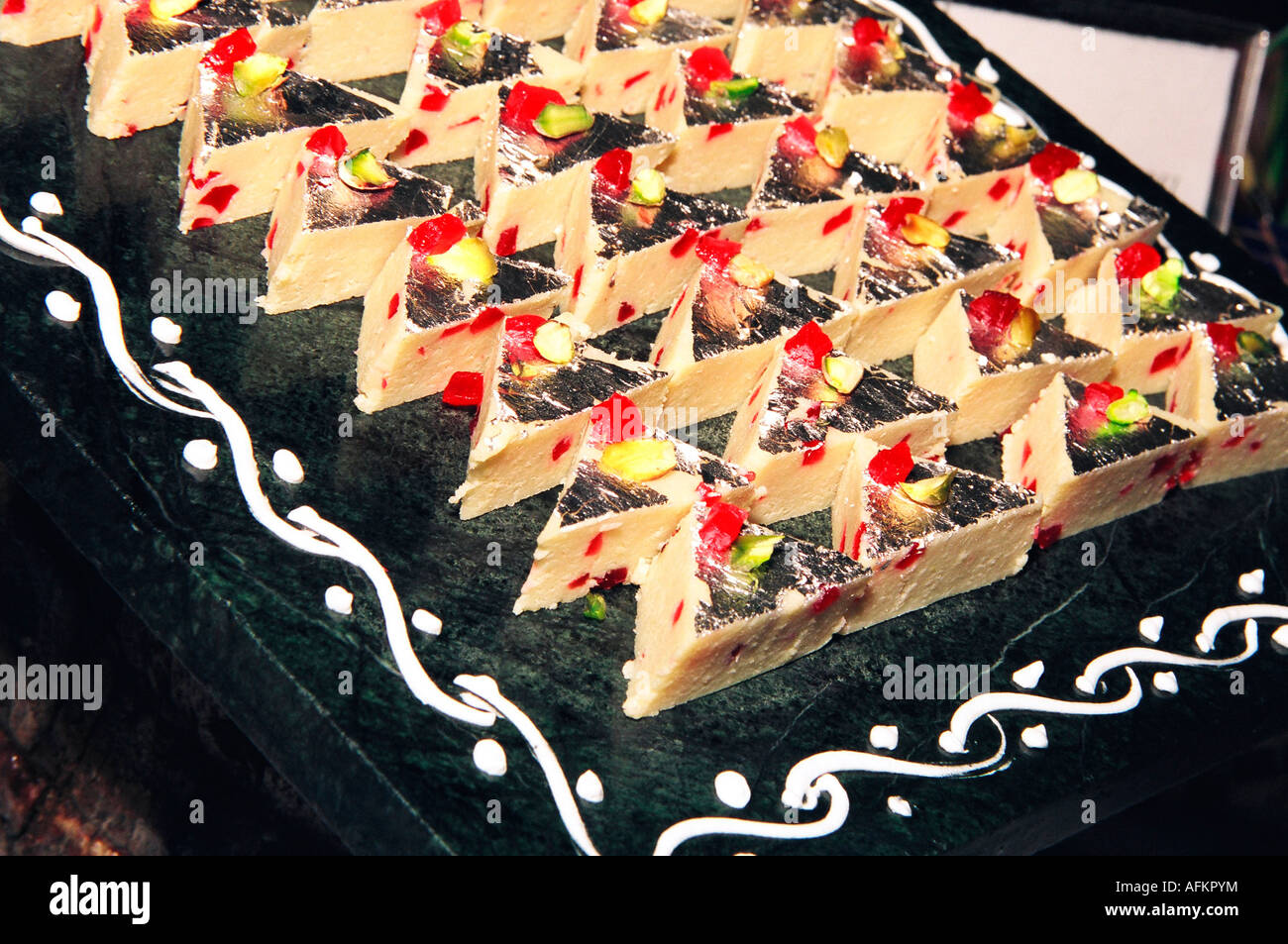 Indian Sweets also known as mithai - Stock Image