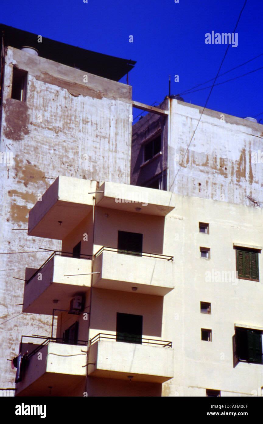 blocks of flats beirut - Stock Image
