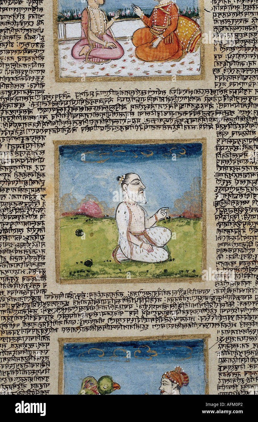 'literture, India, 'Mahabharata', accrued between 400 BC and 400 AD, extract, Indian national epic, - Stock Image