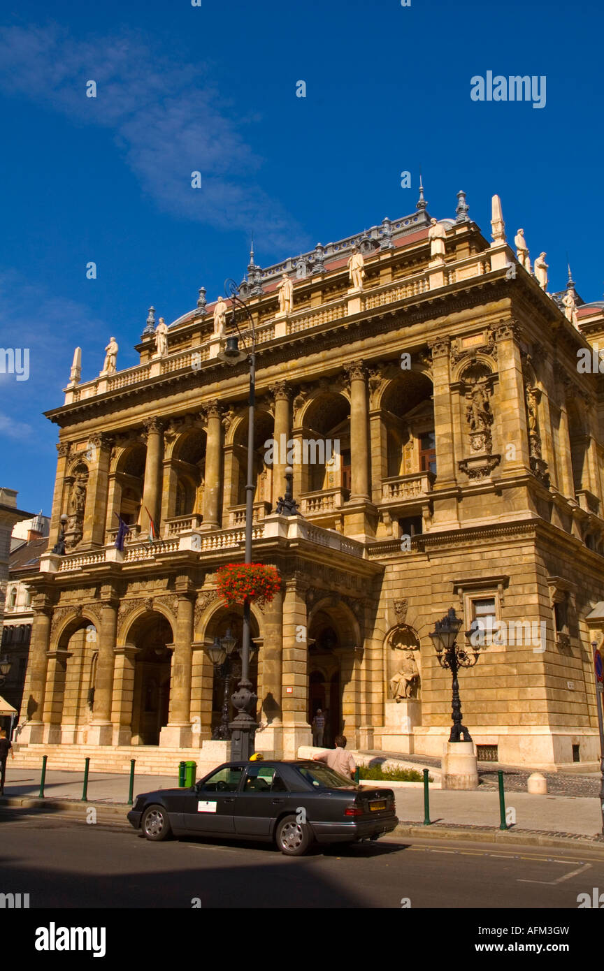 Hungarian state opera house along Andrassy Ut boulevard in central Budapest Hungary EU - Stock Image