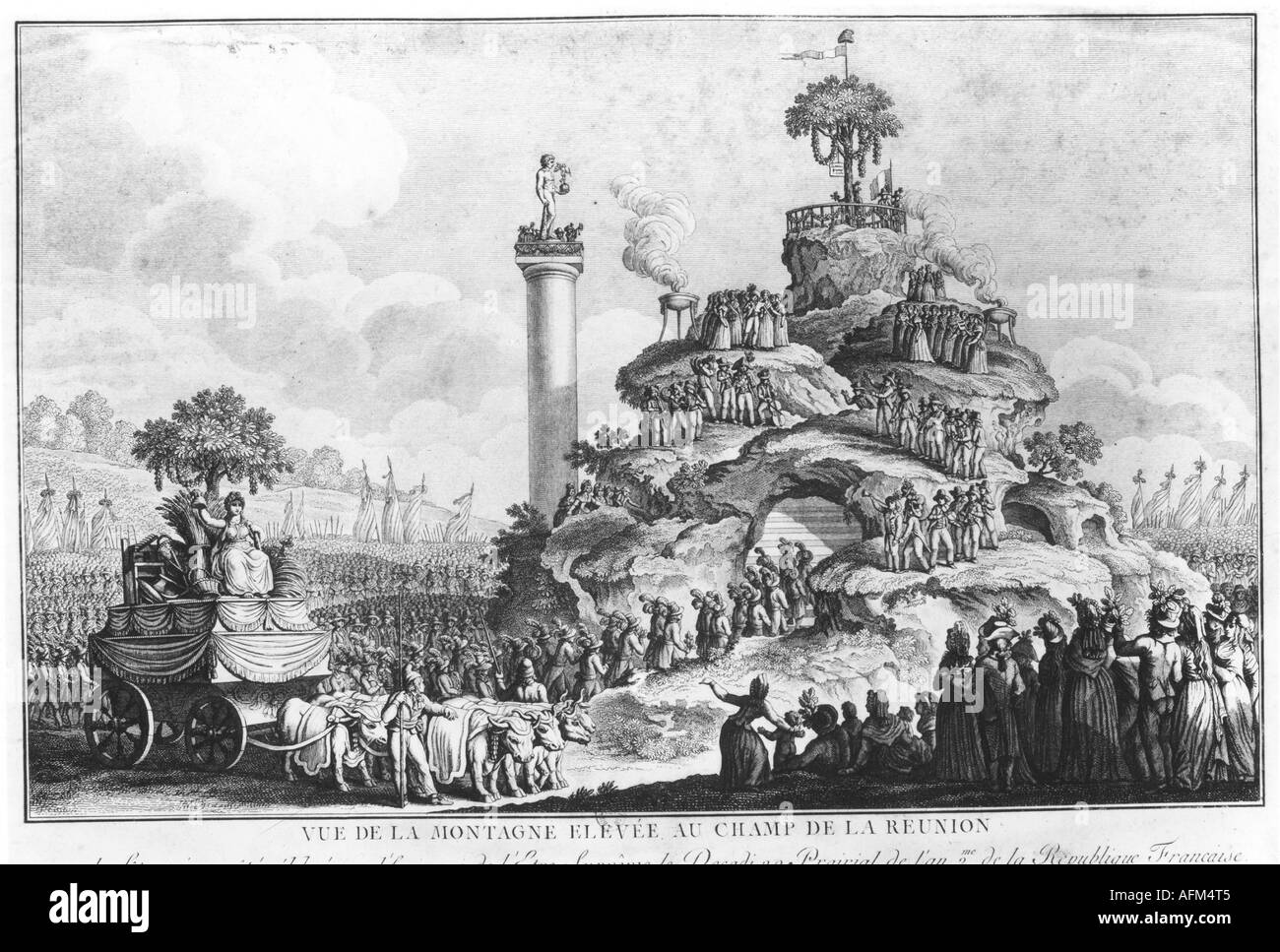"""geography/travel, France, revolution 1789 - 1799, celebration of the """"Supreme Being"""", 20. Prarial II (8.6.1792), Stock Photo"""