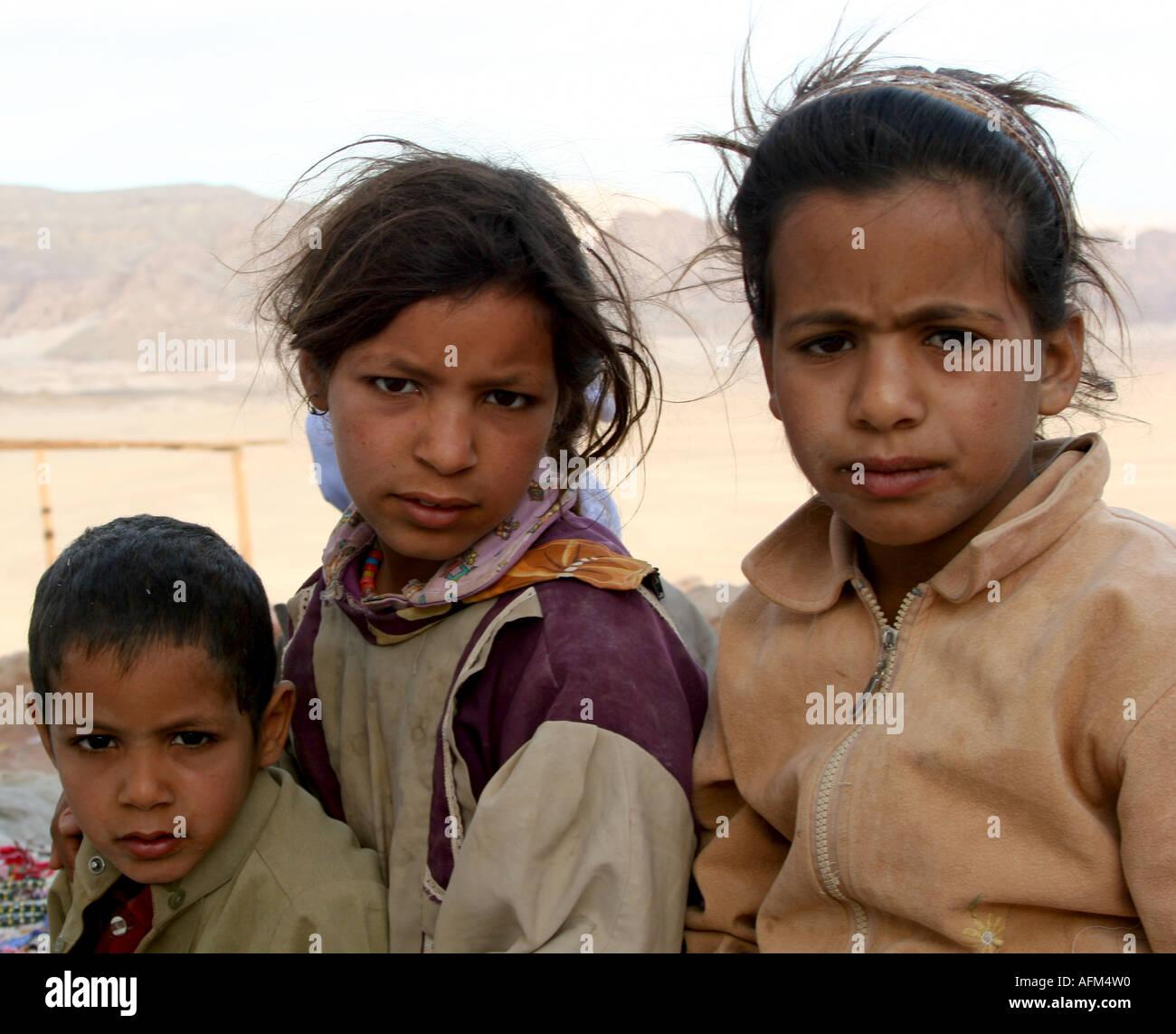 BEDOUIN CHILDREN - Stock Image