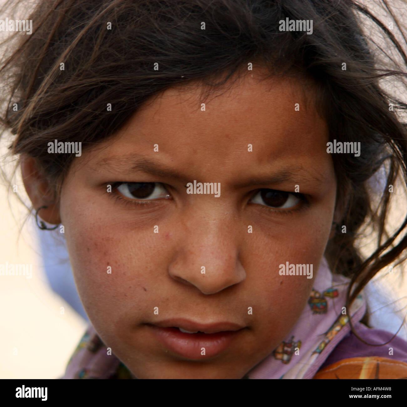 BEDOUIN GIRL - Stock Image