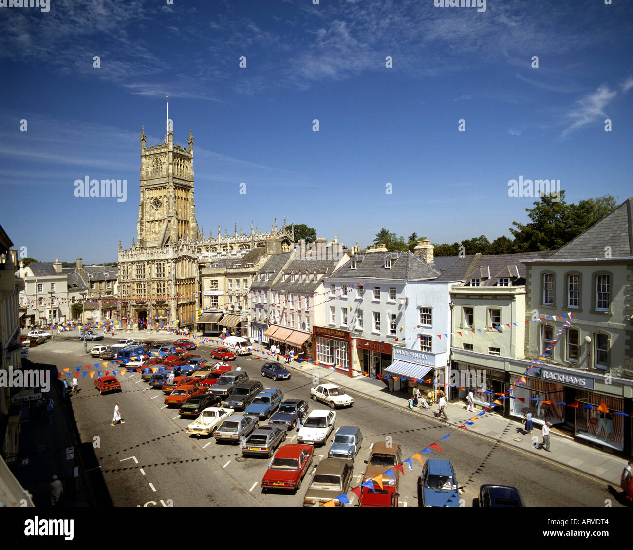 GB - GLOUCESTERSHIRE:  The historic Market Square in Cirencester - Stock Image