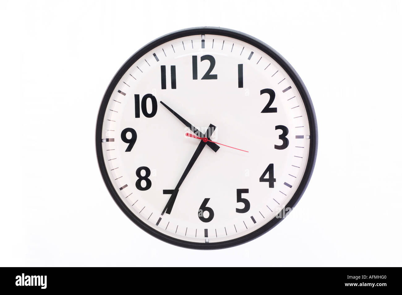 wall clock in office - Stock Image