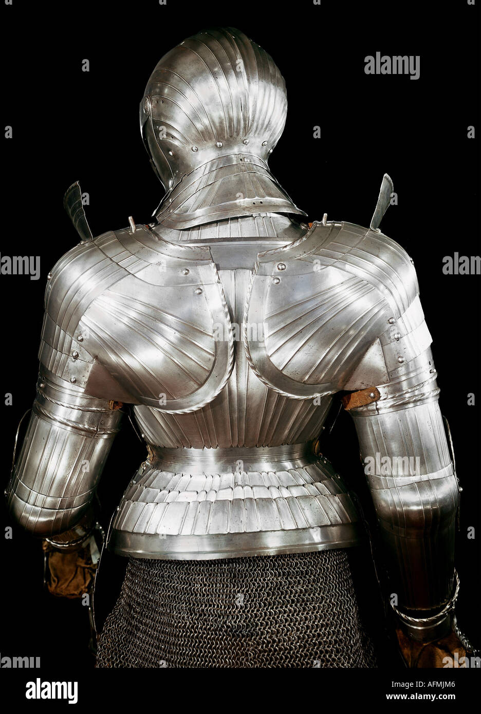 weapons / arms, amour, harness, back side, epaulet, iron, embossed, Innsbruck, circa, 1510 / 1520, Additional-Rights-Clearances-NA - Stock Image