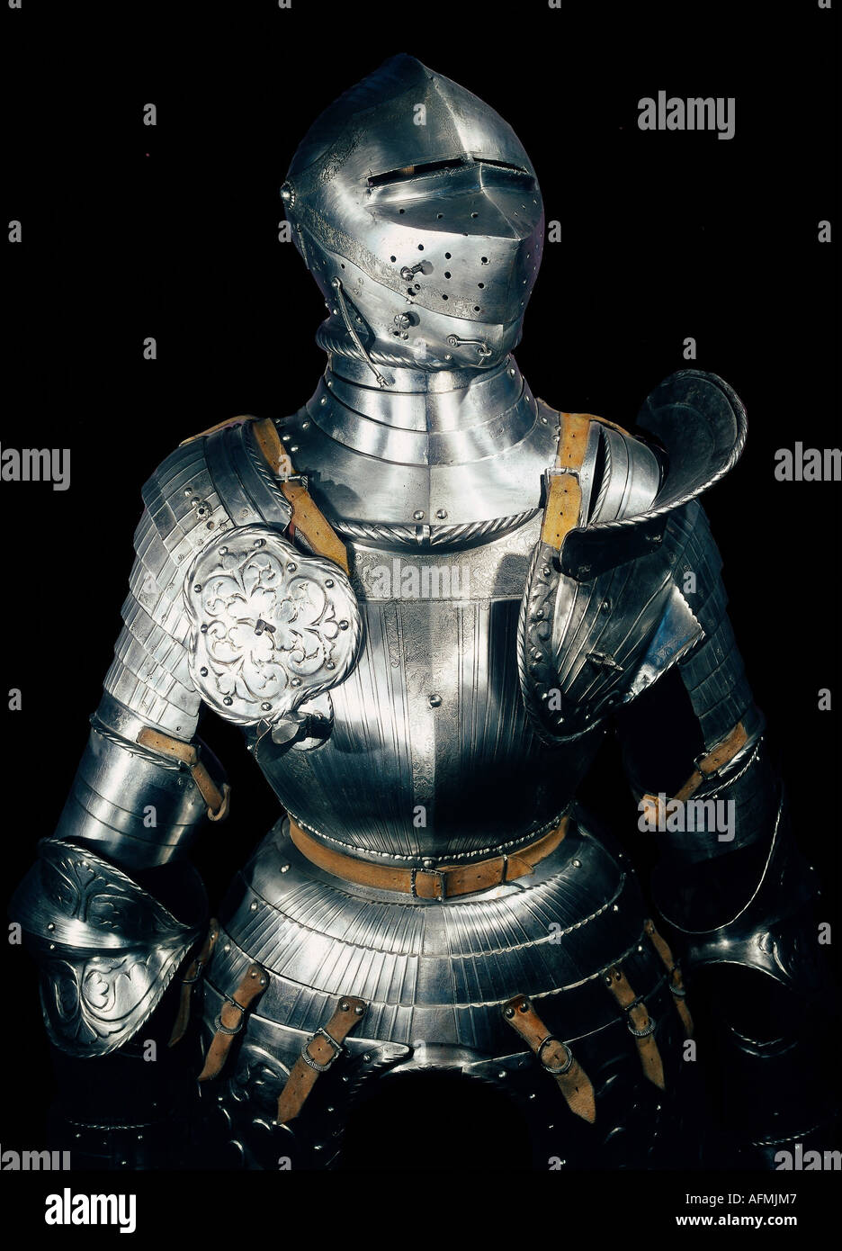 weapons / arms, amour, harness, Lorenz Helmschmid, Augsburg, circa 1520, Ameria, Madrid, Additional-Rights-Clearances-NA - Stock Image