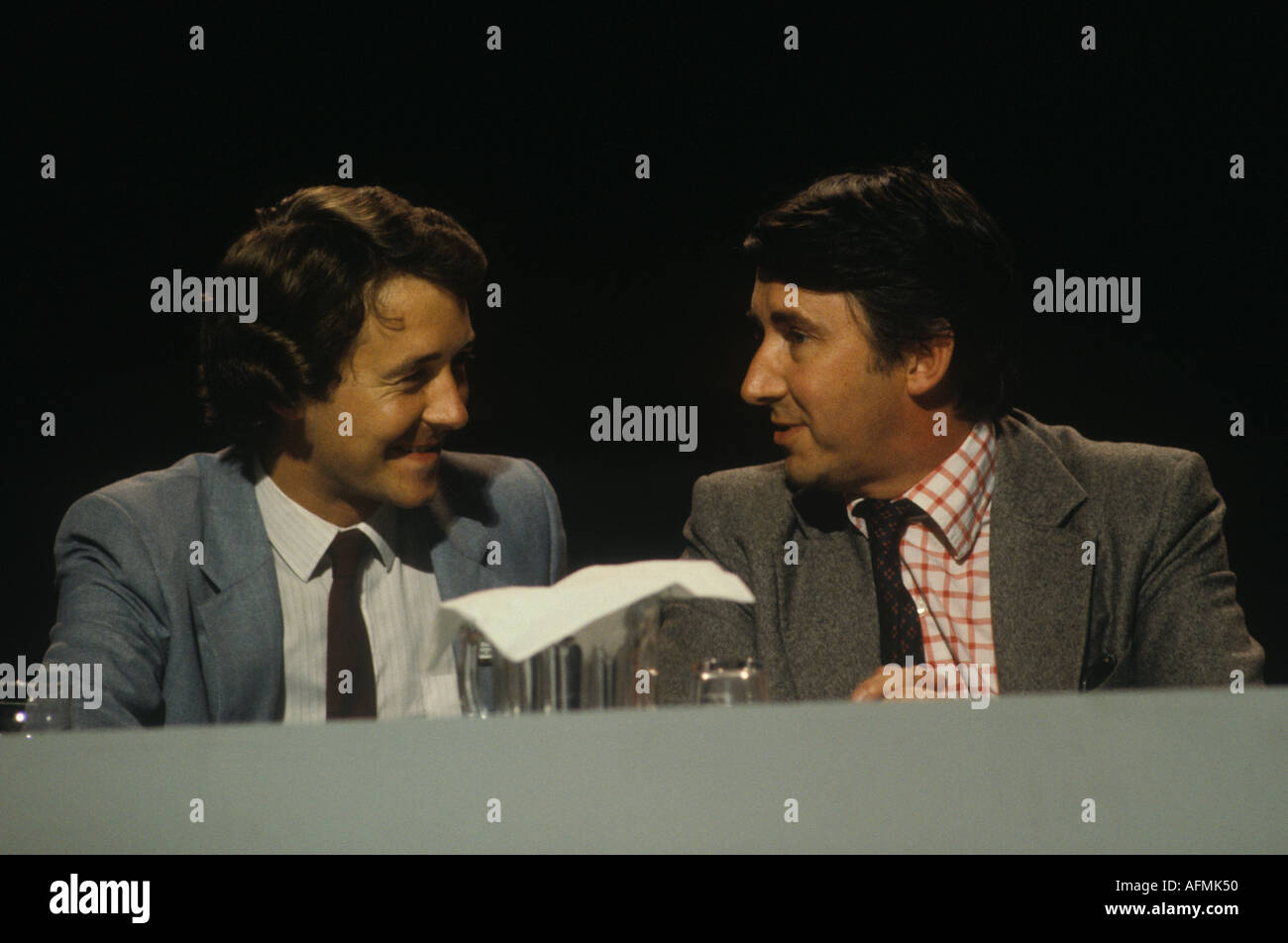 The Liberal Party Conference Blackpool 1980 David Alton and David Steel MP    HOMER SYKES - Stock Image