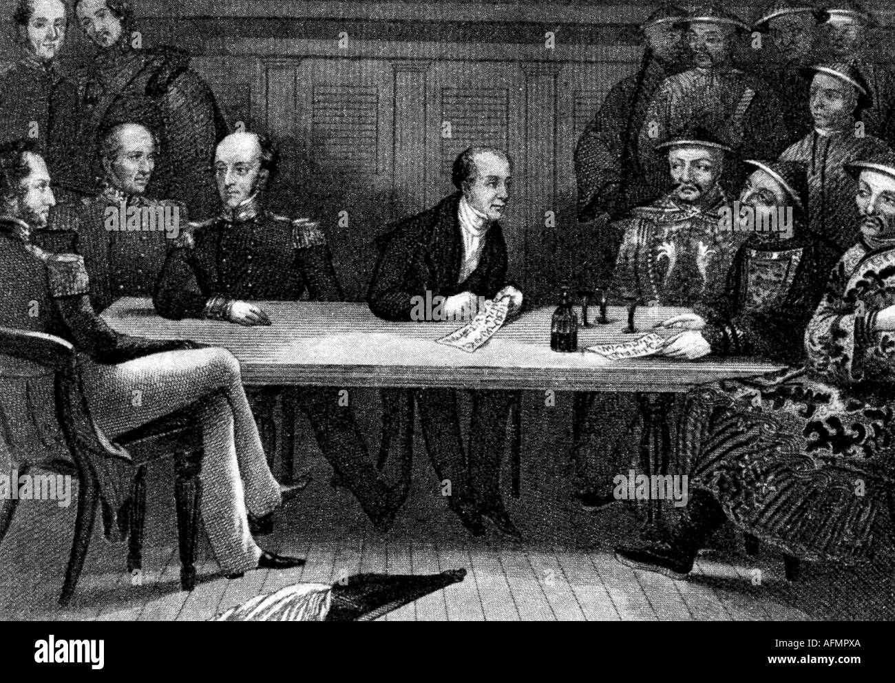 events, First Opium War 1839 - 1842, Additional-Rights-Clearances-NA - Stock Image